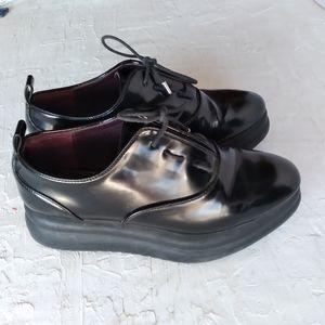 Zara platform lace up loafers